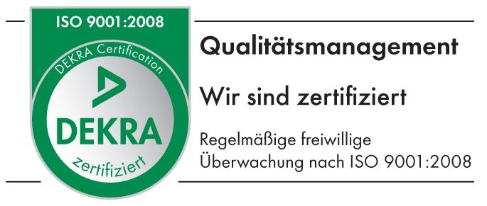 DEKRA Siegel ISO 9001:2008