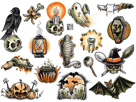 halloween tattoo filler