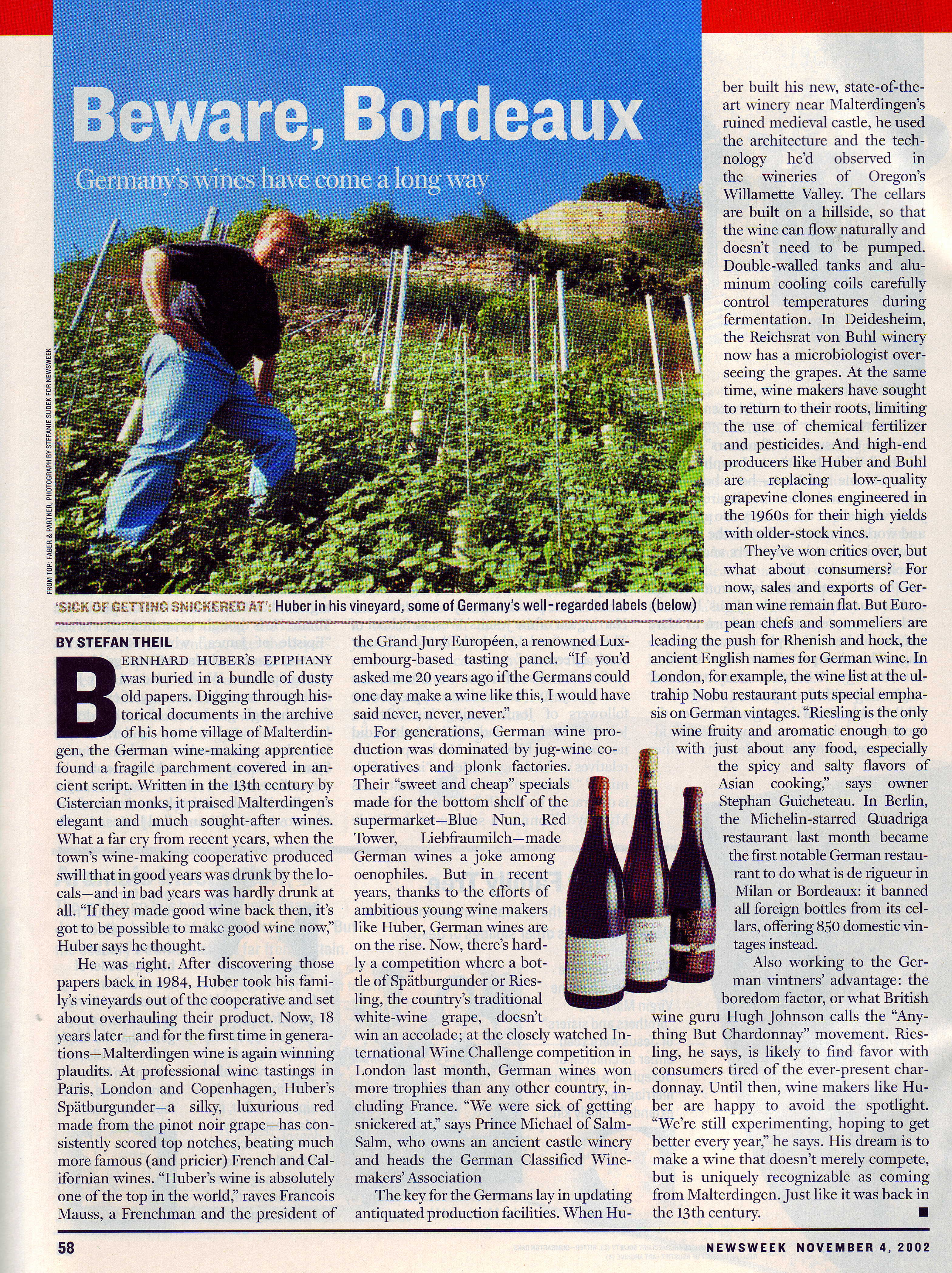 Beware Bordeaux - Germany´s wines have come a long way