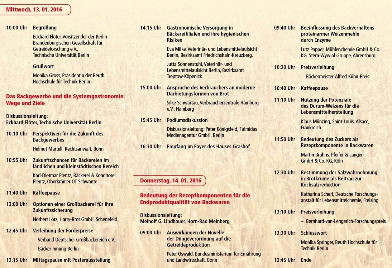 Tagungsprogramm Januar 2016