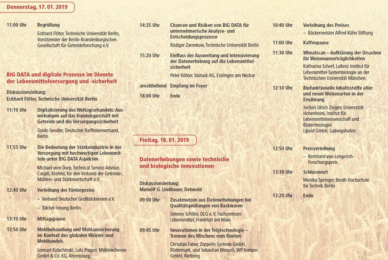 Dies ist das Programm der 48. Wissenschaftlichen Informationstagung im Januar 2019.