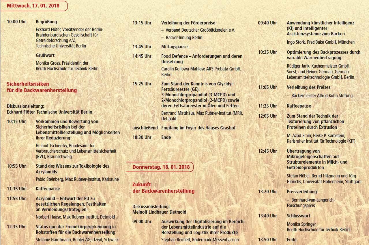 Tagungsprogramm 47 Tagung