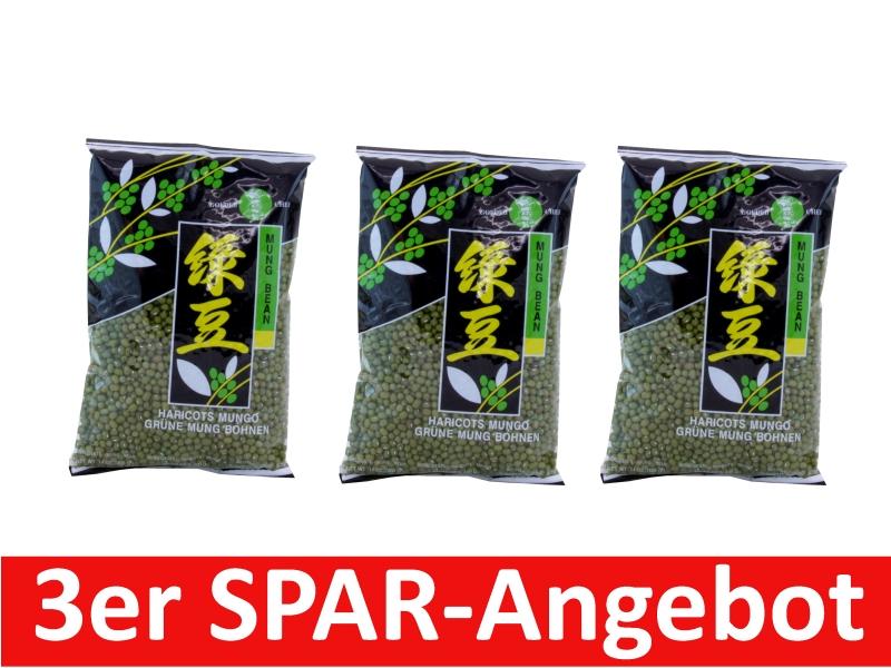 Mungobohnen grün 3 x 400g