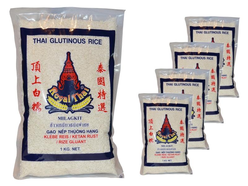 Klebreis Sticky Rice 5 x 1kg
