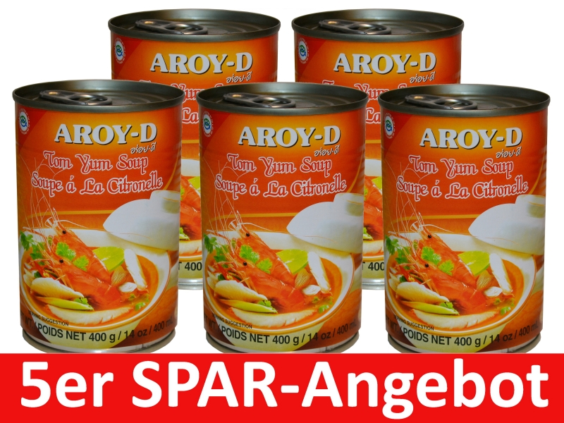 Tom Yum Suppe Aroy-D 5 x 400g