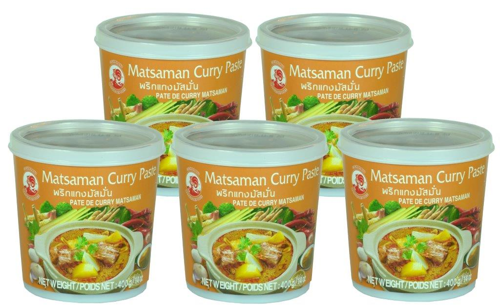 Matsaman Curry- paste 5 x 400g Cock
