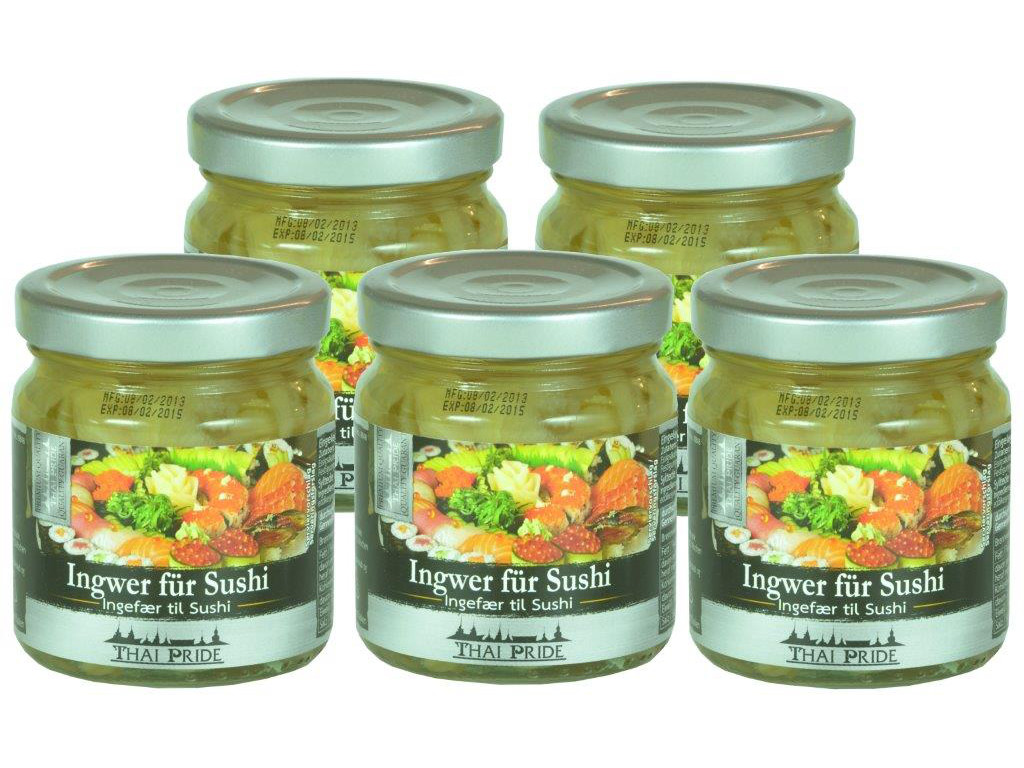 5 x Ingwer für Sushi