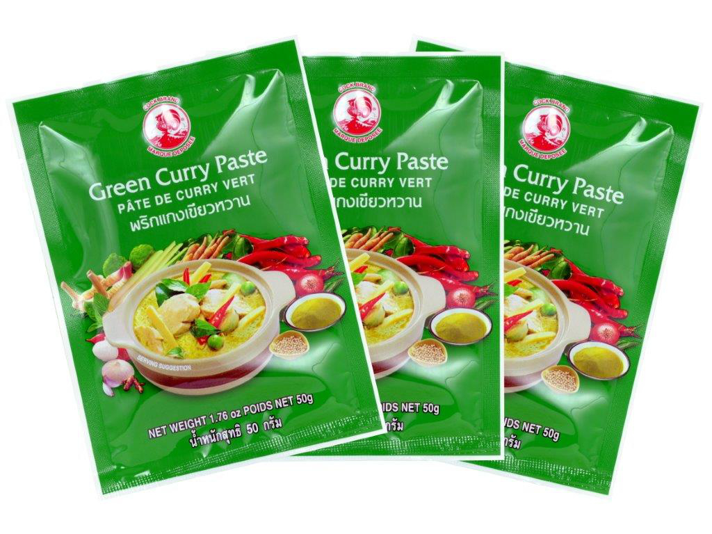 Grüne Currypaste Cock, 3 x 50g