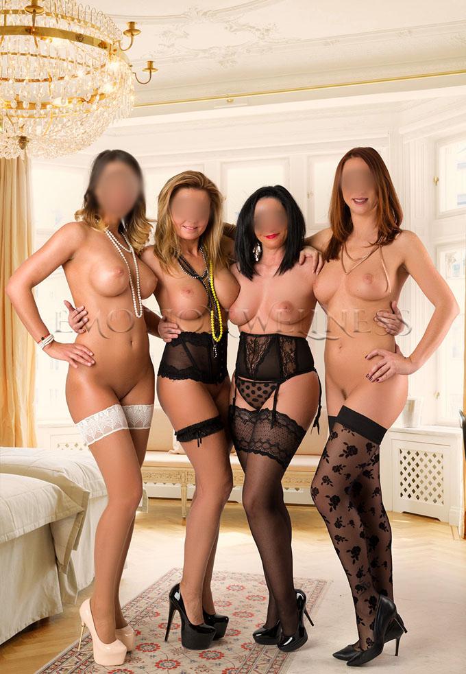 Erotische Massage Quartet mit Karina, Cindy, Sisi & Olivia